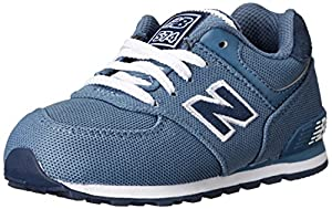 New Balance KL574 Pique Polo Pack Running Shoe (Infant/Toddler/Little Kid/Big Kid), Blue/Black, 6 M US Toddler