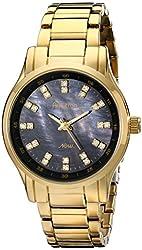 Armitron Women's 75/5100JMGP Swarovski Crystal Accented Gold-Tone Bracelet Watch
