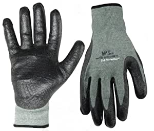 Wells Lamont 551XL Cut Resistant Work Gloves, Kevlar Glove Dipped in Nitrile Rubber, Extra Large
