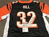 Jeremy Hill Signed Autographed Cincinnati Bengals Authentic Nike Jersey JSA WITNESSED JHILL Hologram & COA CARD