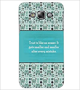 PrintDhaba Quote D-4178 Back Case Cover for SAMSUNG GALAXY A7 (Multi-Coloured)