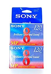Sony : Standard Grade 8mm Camcorder Videotape Cassette, 120 Minutes -:- Sold as 2 Packs of - 1 - / - Total of 2 Each
