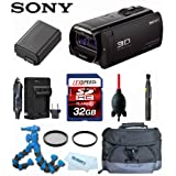 Sony HDR-TD30V + Battery + Filters + Camera Bag + Travel Charger + 32GB Deluxe Kit