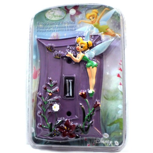 Disney Fairies Tinker Bell Hand Painted Wallplate - Kids Bedroom Playroom Decor Light Switch Plate - 1