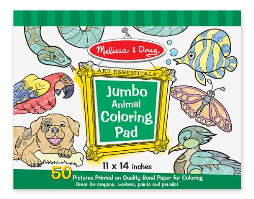 Melissa & Doug Jumbo Coloring Pad - Animals - 1