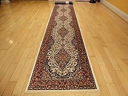 Silk Ivory Area Rug Luxury 2x12 White Classic Carpet 2x11 Hallway Runner Rugs Persian Area Rugs Narrow Long Runners (2\'x12\' Hallway Runner)