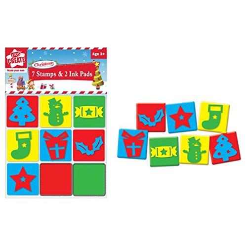 childrens-kids-christmas-xmas-foam-stamps-stampers-ink-pads-set-tree-cracker