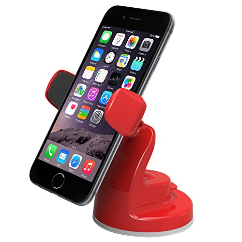 iOttie Easy View 2 Car Mount Holder for iPhone 6 (4.7)/Plus (5.5) /5s/5c, Samsung Galaxy S6/S6 Edge/S5/S4/Note 4/3, LG G3, Google Nexus 5 -Retail Packaging -Red