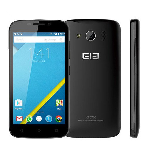 Original Elephone G9 MTK6735m Quad Core 4G LTE Mobile Phone 4.5″ 854×480 Android 5.1 8.0MP Dual SIM Phone (BLACK)