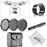 Neewer® for DJI Phantom 3 Standard, 37MM Filter Kit: (3)Filters(CPL / ND4 / ND8)+(1)Filter Adapter+(1)Lens Cleaning Pen+(1)Cleaning Cloth, Not for DJI Phantom 3 Professional & Advanced