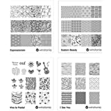 Winstonia Nail Art Stamping Image Plate Bundle Set 6 - Expressionism, Eastern Beauty, Viva La Fiesta , I Sea You