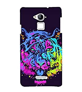 printtech Tiger Funky Art Abstract Back Case Cover for Coolpad Note 3 Lite Dual SIM with dual-SIM card slots