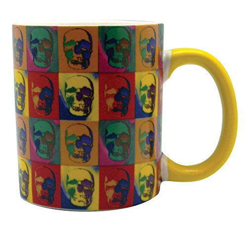 Multi-Color Skull Mug - 14Oz