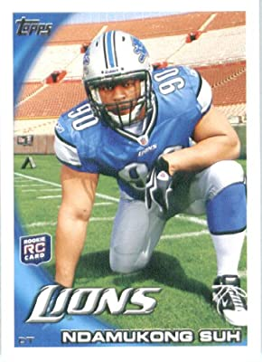 2010 Topps NFL Football Card # 360 Ndamukong Suh RC - Detroit Lions ( Rookie Card) NFL Trading Card in a Protective ScrewDown Case!