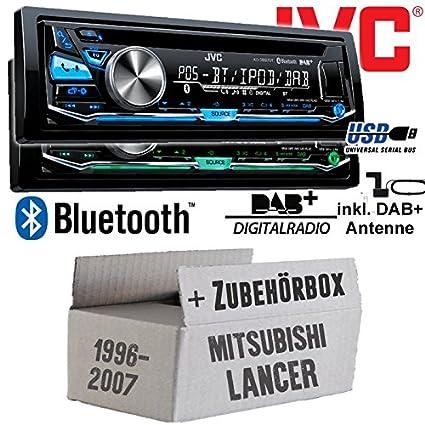 Mitsubishi Lancer - JVC KD-DB97BT - DAB+ Digitalradio | Bluetooth | USB | Autoradio inkl. DAB+ Antenne - Einbauset