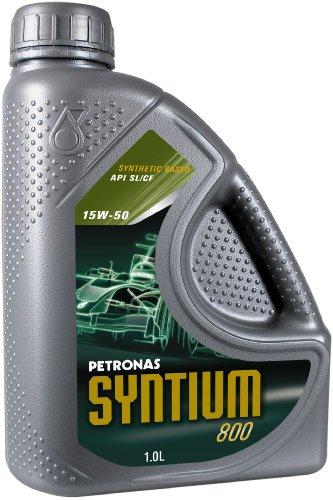 Petronas SYNTIUM 800 - 15W50 Synthetisches Motorenöl, 1-Liter-Flasche
