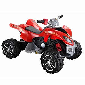 Raptor 12v Quad Bike Red Kids Electric Ride on New 2011 Model