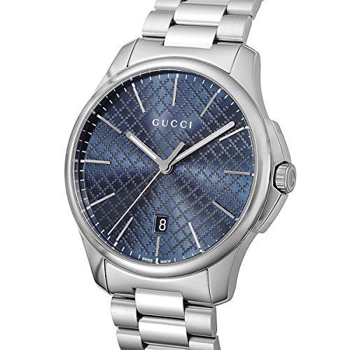 グッチ GUCCI Gタイムレス クオーツ メンズ 腕時計 YA126316 ブルー [並行輸入品]