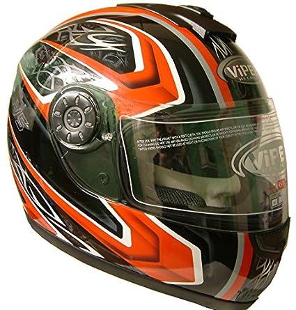 Viper V5-RS moto casque (intérieur menu déroulant pare-soleil) L Rouge
