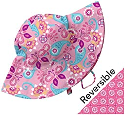 i play Baby Girls\' Reversible Brim Sun Hat (Baby) - Light Pink - Newborn