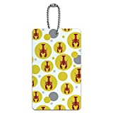 Luggage Card Suitcase Carry-On ID Tag - Lobster Fresh Red Seafood Crustacean - Yellow