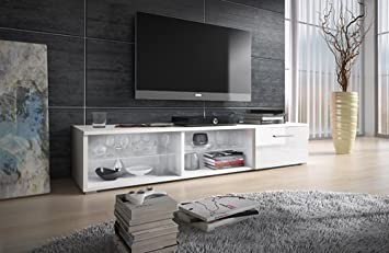 Mueble TV modelo Lidia en color blanco sin led (1,5 m), (varios colores disponibles)