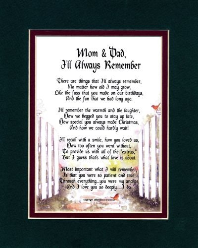 I Love Mom And Dad Poems Mom  amp Dad  I ll Always