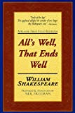 All's Well, That Ends Well: Applause First Folio Editions (Folio Texts)