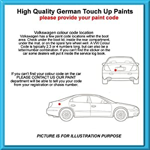 Volkswagen High Quality German Car Touch Up Paint 30Ml 4C * Rising Blue Met From 07 - 12 by MACPACARPARTS