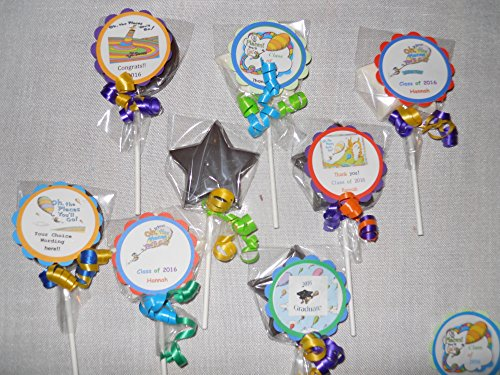 Oh the Places You'll Go Dr Seuss Gourmet Chocolate Lollipops