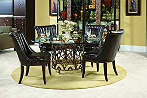 American Drew Bob Mackie 60 Inch Round Glass Top Dining Table W