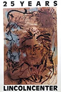Julian Schnabel - Abstract Portrait of Beethoven - 1984 - 25 years Lincoln Center 59 ¼ x 40 Lithograph poster