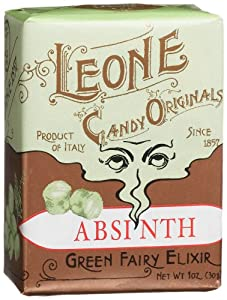 Leone Candy Originals, Absinthe Hard Candy, 1-Ounce Boxes (Pack of 18)