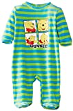 Disney Baby Boys Winnie The Pooh EN0305 Striped Long Sleeve Sleepsuit