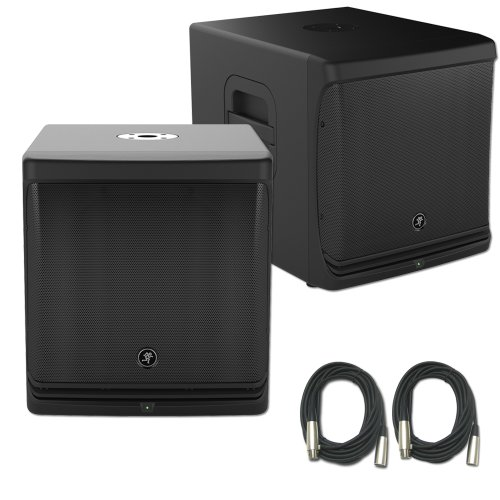 "Mackie Pair Of Dlm12S 12"" Active Subwoofer Bundl"