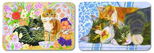 Platzsets 5029031 Kitchen Cat Katzen-Motiv Kunststoff 44 8x31 5x0 05cm mehrfarbig 12 Stück