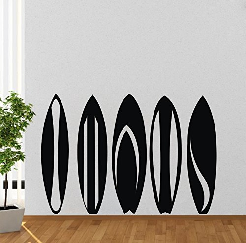55x80cm Sport art wall decals Surfing player surf boards Removable modern Graffiti art for boys kid bedroom