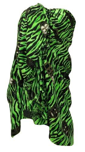 La Leela Balck Green Mask Printed Sarong Wraps