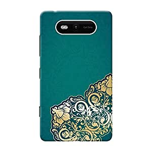 INKIF Abstract Painting Designer Case Printed Mobile Back Cover for Nokia Lumia 820 (Blue)