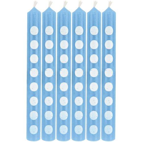 Light Blue Polka Dot Cake Candles (12 ct)