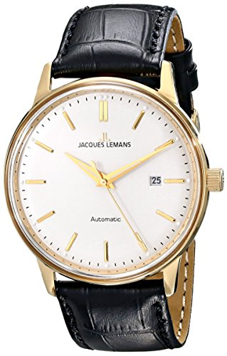 Jacques Lemans Men'S N-206B Classic Analog Display Japanese Automatic Black Watch