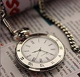 Pocket Watch for Men Silver Tone Slick and Elegant