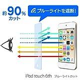 WANLOK ブルーライトカット 改善版 Apple iPod touch 6th 【実機確認済】液晶保護 ガラスフィルム 2015 新しい iPod touch 6 / 5 新技術導入 6世代 5世代 国産強化ガラス 厚さ0.3mm 2.5D...