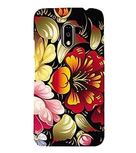 Floral Pattern Designer Back Case Cover for Motorola Moto G4
