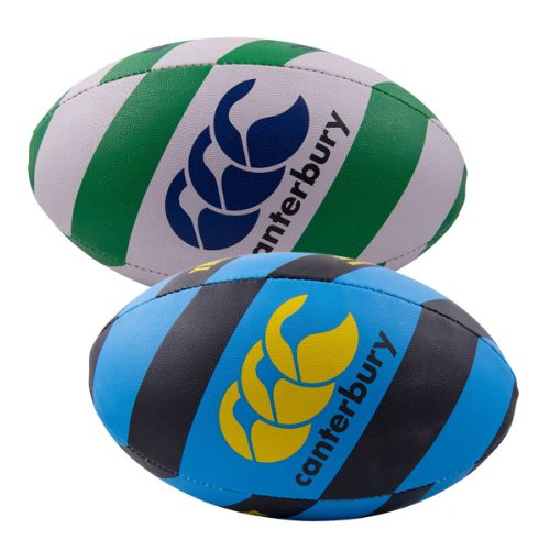 Thrillseeker Rugby Training Ball White/Green - size 5