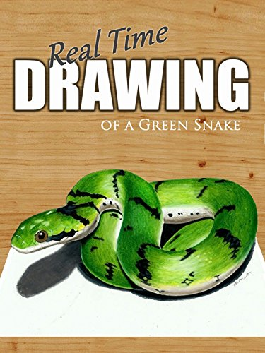 Real Time Drawing of a Green Snake