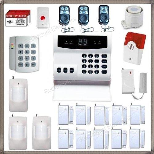Rockmount Electronics Rockmount Electronics Wireless Home Business Security System Burglar Alarm with Auto-Dialer ES10C-10w3m