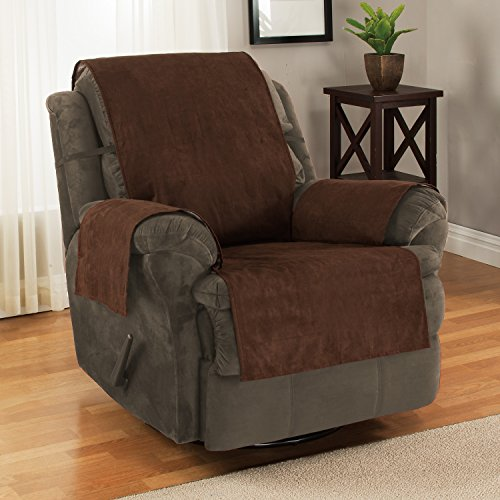 Furniture Fresh - New and Improved Anti-Slip Grip Furniture Protector with Stay Put Straps and Water Resistant Microsuede Fabric (Recliner, Chocolate) (Chair Headrest Covers compare prices)