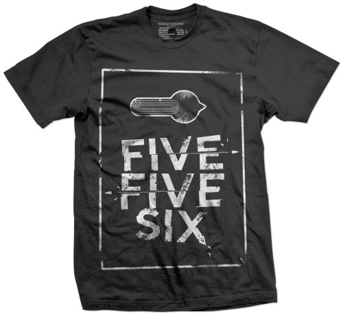 99b3042c6cdff Russian Roulette Clothing Five Five Six Men s T Shirt Black Large ...