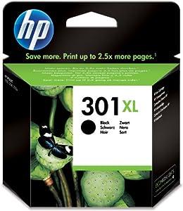 Hewlett Packard Cartouche d'encre HP Deskjet 1000 1050 2050 3000 3050 CH563EE#301 noir No. 301XL